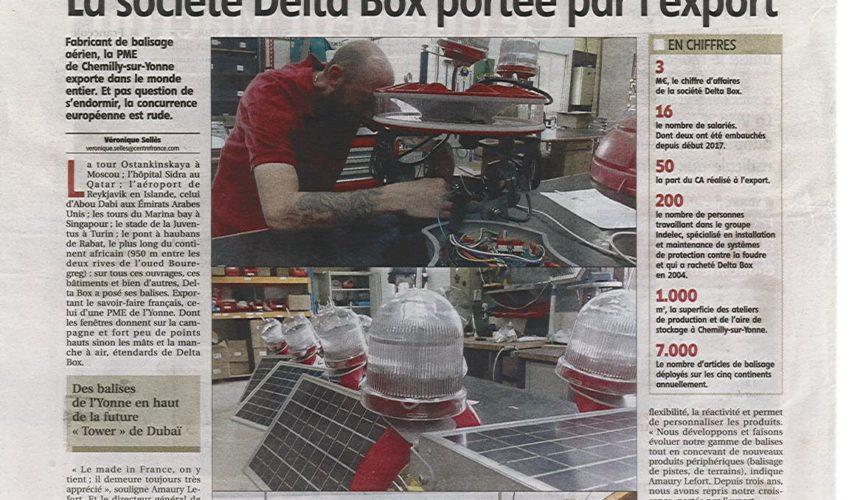 Focus sur Delta Box dans notre journal local