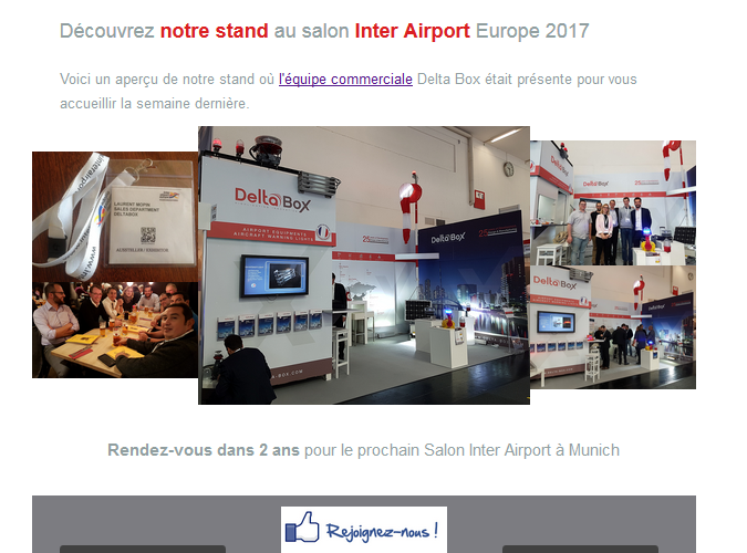 Delta Box de retour du salon Inter Airport à Munich